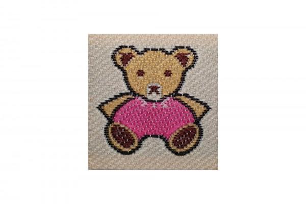 dalipo, Aufnäher, kleiner Bär, rosa