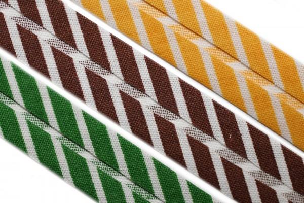 dalipo, Schrägband, Baumwolle, gestreift, 14mm
