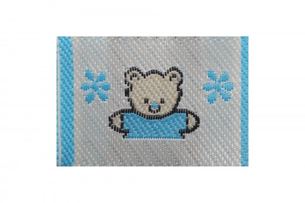 dalipo, Aufnäher, kleiner Bär, blau